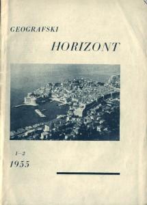 Prvi broj Geografskog horizonta, 1955. godina